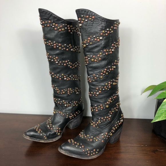 Boot Star by OLD GRINGO Studded Black Boot 6.5